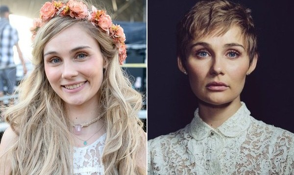"""every scar tells a story"" - Clare Bowen cuts off hair to make a statement about beauty and self-love"
